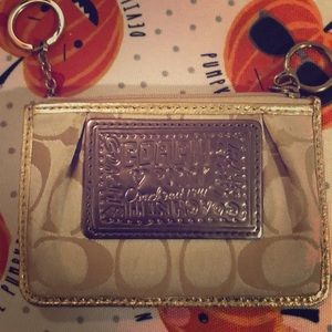 Coach card and key wallet